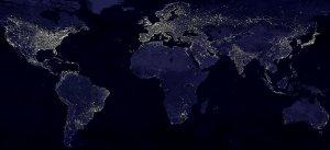Planet Erde bei Nacht: Künstliche Beleuchtung macht die Sterne unsichtbar