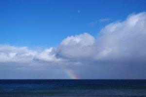 Wolkenlos mit Regen: Aprilwetter an der Küste