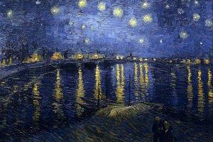 Astronomie in der Malerei: Vincent van Gogh stellt in einigen seiner Werke den Sternenhimmel dar