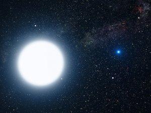 Visuelles Doppelsternsystem mit unterschiedlichen Komponenten