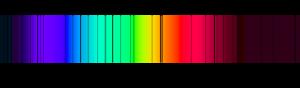 Fraunhoferlinien des Sonnenspektrums