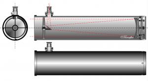 Schema des Newton-Teleskops, von Szőcs Tamás Tamasflex (Eigenes Werk) Lizenz: [url=http://creativecommons.org/licenses/by-sa/3.0/deed.de]CreativeCommons CC-BY-SA-3.0[/url]