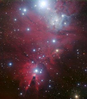 Deep-Sky-Aufnahme mit langer Belichtungszeit